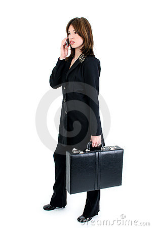 Free Beautiful Business Woman On Cellphone Stock Photo - 284510