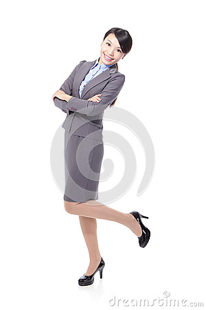 Beautiful business woman smile