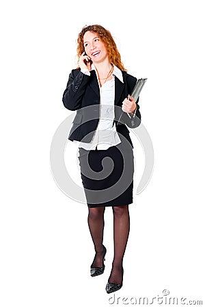 Beautiful businesswoman on the phone.
