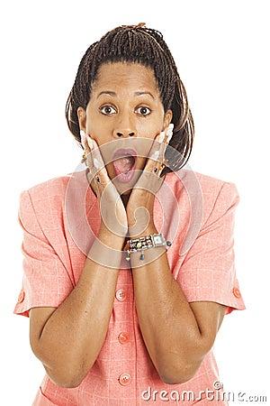 Beautiful Businesswoman - Shocked