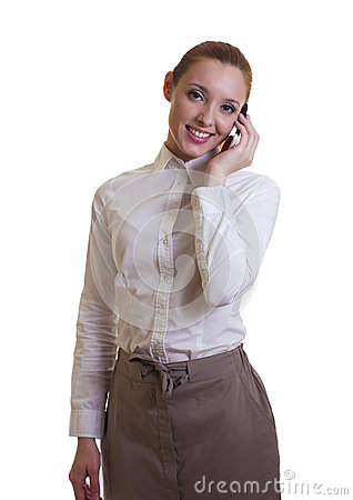 Beautiful businesswoman with smart-phone