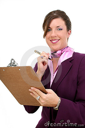 Free Beautiful Businesswoman Taking Notes Stock Photo - 187750