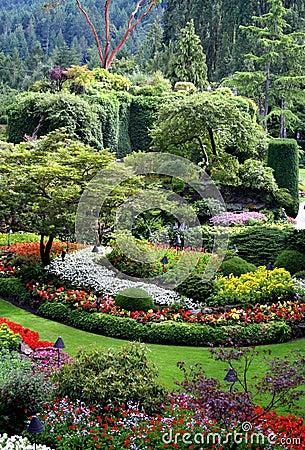 Beautiful Butchart Gardens, Vancouver Island, Cana