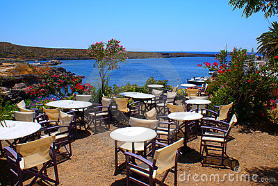 Beautiful cafeteria at the beach