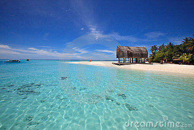 Beautiful calming tropical beach.