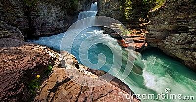 Beautiful canyon waterfall