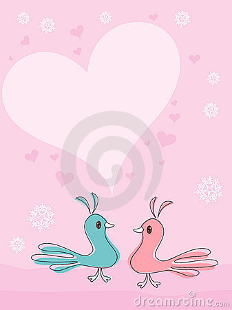 A beautiful card with love birds