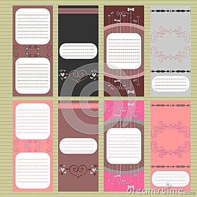 Beautiful cards set