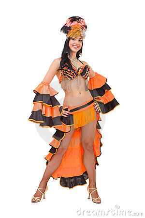 Beautiful carnival dancer