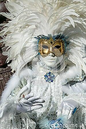 Free Beautiful Carnival Mask At Venice Carnival, Italy Royalty Free Stock Photography - 65714287