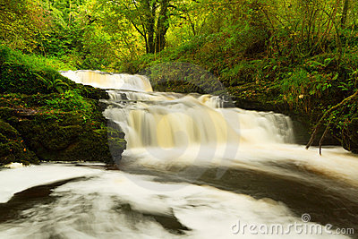 Beautiful cascades of Clare Glens