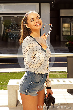 Beautiful casual girl