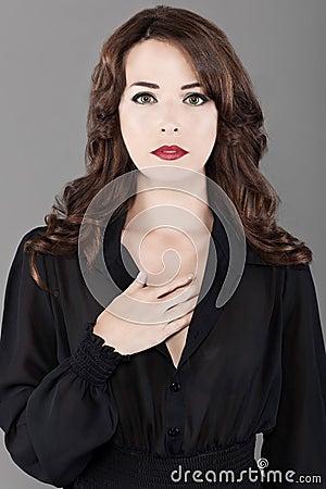 Beautiful caucasian sexy woman portrait