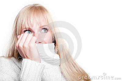 Beautiful caucasian winter woman