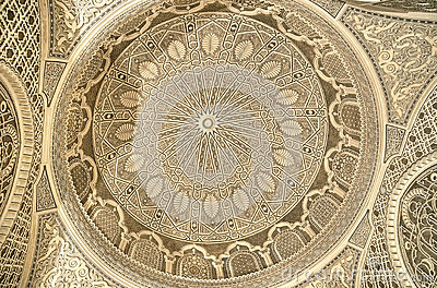 Beautiful ceiling of the Mosque in Kairouan