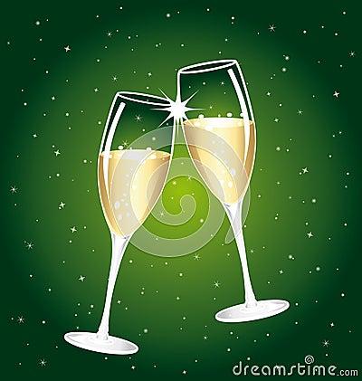 Free Beautiful Champagne Toast. Stock Photo - 11900650
