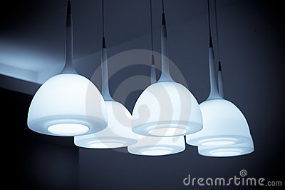 Beautiful chandelier isolated with B&W color