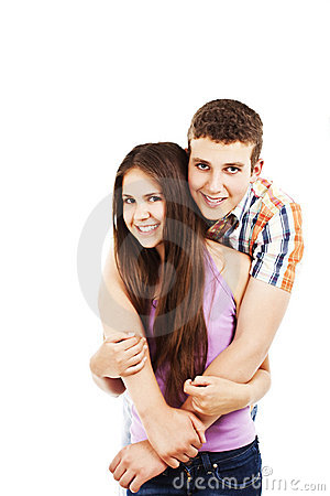 Beautiful and cheerful young couple