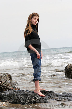Beautiful Child on the Beach