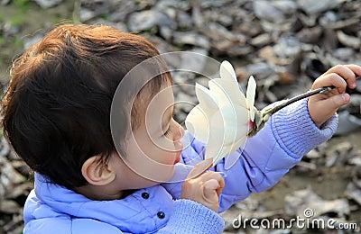 Beautiful child curiosity