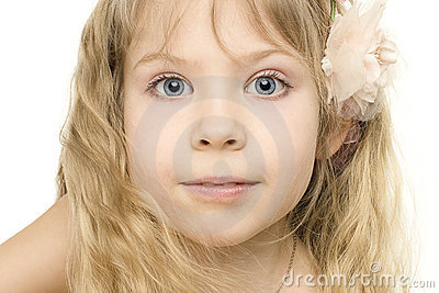 Beautiful child girl - face close-up