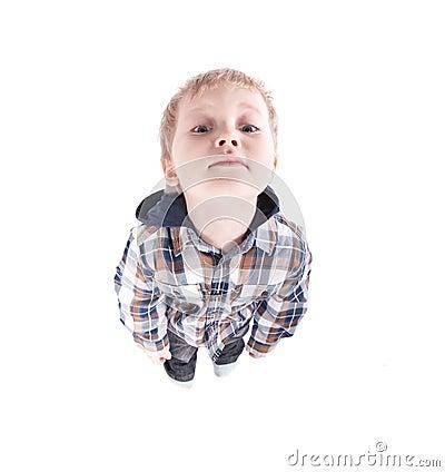Beautiful child watching funny