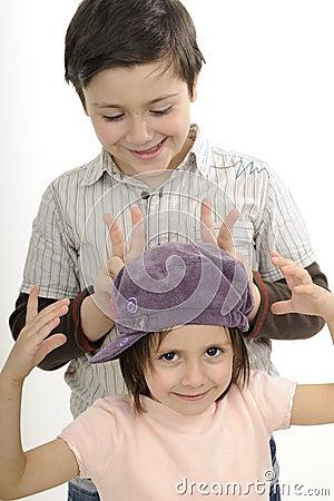 Beautiful children gesturing