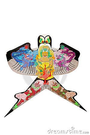 Free Beautiful Chinese Dragon Kite Isolated Stock Image - 7825651