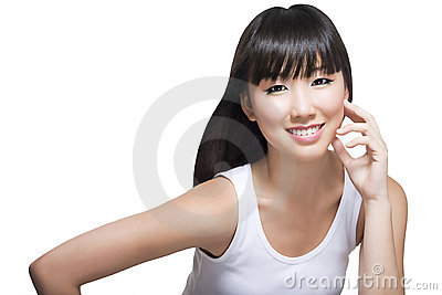 Beautiful Chinese lady with smooth complexion