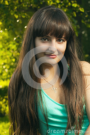 beautiful christian girl stock photo   image 26341870