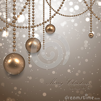 Beautiful christmas background with garland