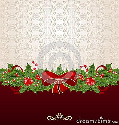 Beautiful Christmas background with mistletoe