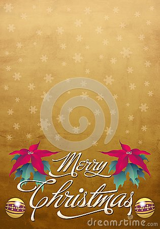 Beautiful Christmas card - poster template