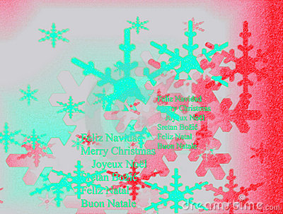 Beautiful Christmas card with snow forms