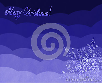 Beautiful Christmas (New Year) background with snowflakes for design use.