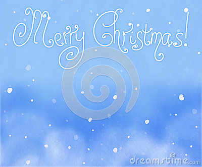 Beautiful Christmas (New Year) background with snowflakes for design use