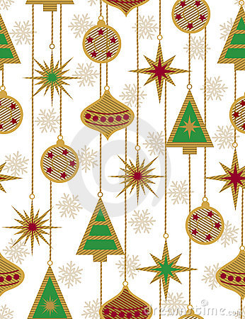 Beautiful Christmas seamless vector patter