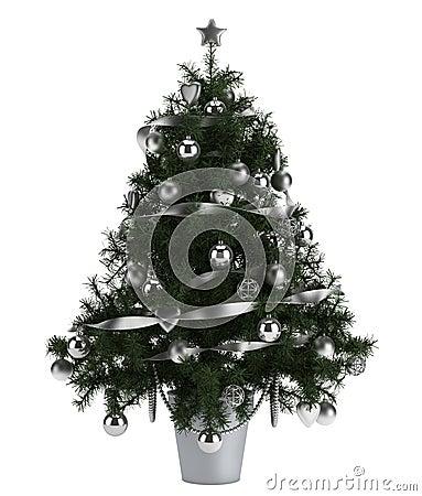 Beautiful christmas tree  on white