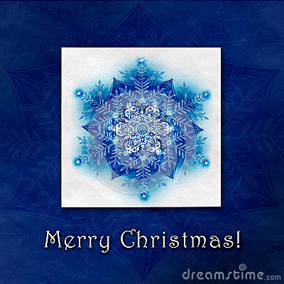 Beautiful Christmas winter background with snowflakes