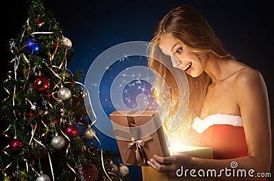 Beautiful christmas woman