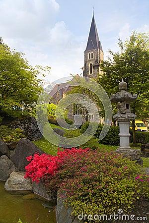 A Beautiful Church In Interlaken Switzerland Royalty Free