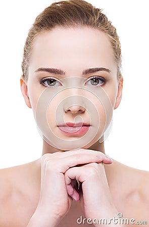 Beautiful clean woman face