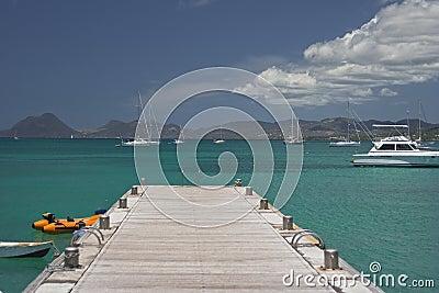 Blue seas of the Caribbean