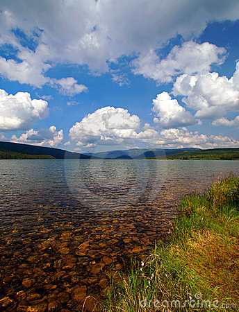 Beautiful Clear Lake with Mountains