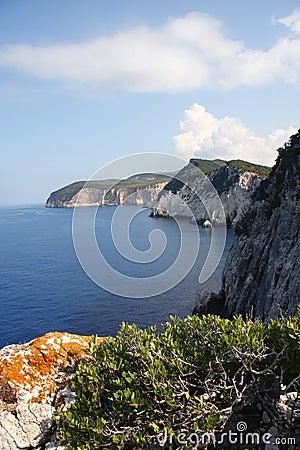 Beautiful cliff in Greece
