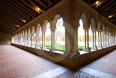 Beautiful cloister in Jacobins church