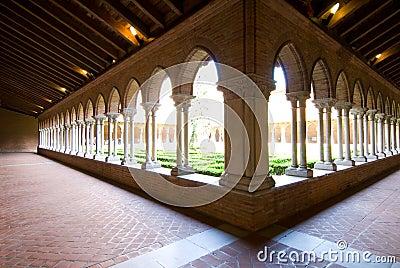 Beautiful cloister in Jacobins church