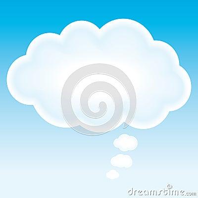 Beautiful cloud think bubble.