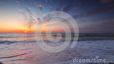 Sea sunrise, natural relaxation on the beach stock video