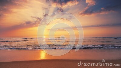 Sea sunrise, natural relaxation on the beach stock video footage